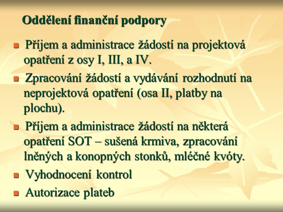 Oddělení finanční podpory