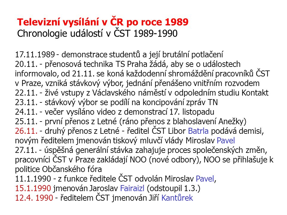 Televizní vysílání v ČR po roce 1989