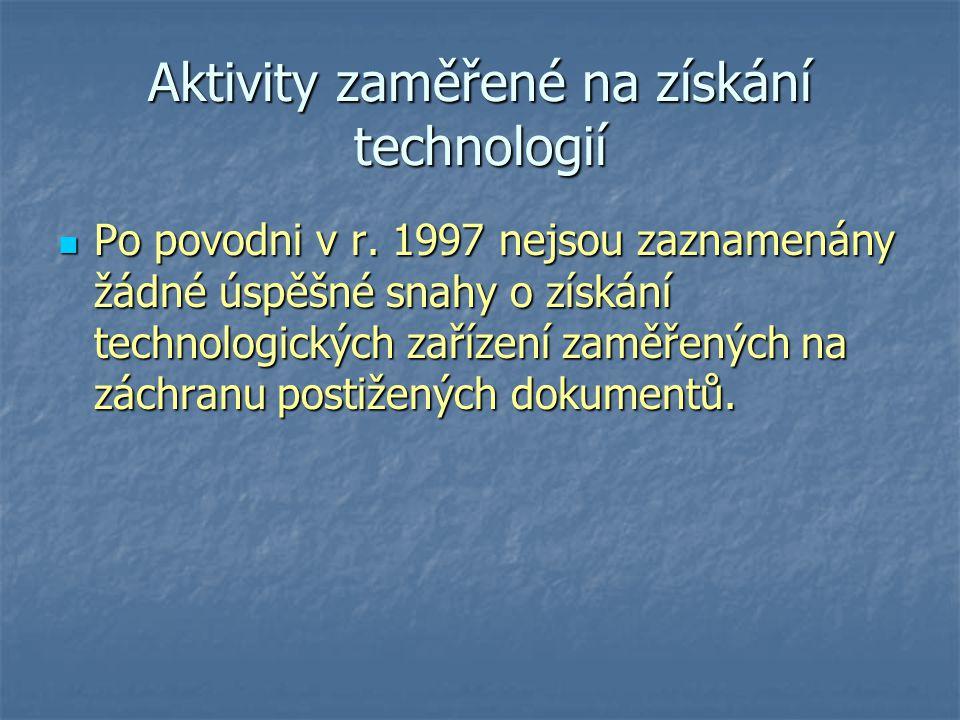 Aktivity zaměřené na získání technologií