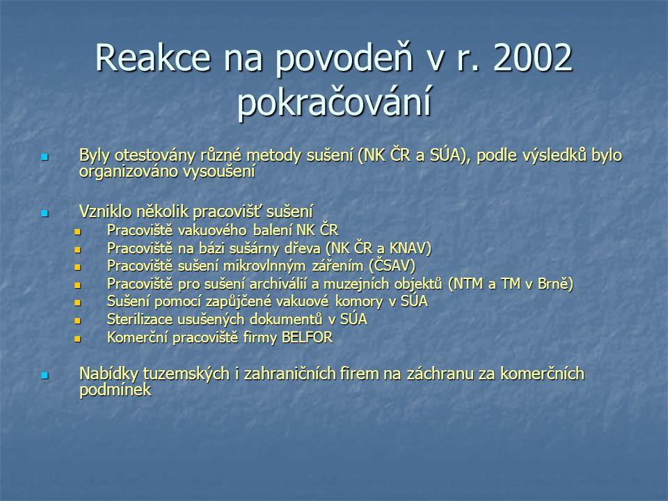 Reakce na povodeň v r. 2002 pokračování