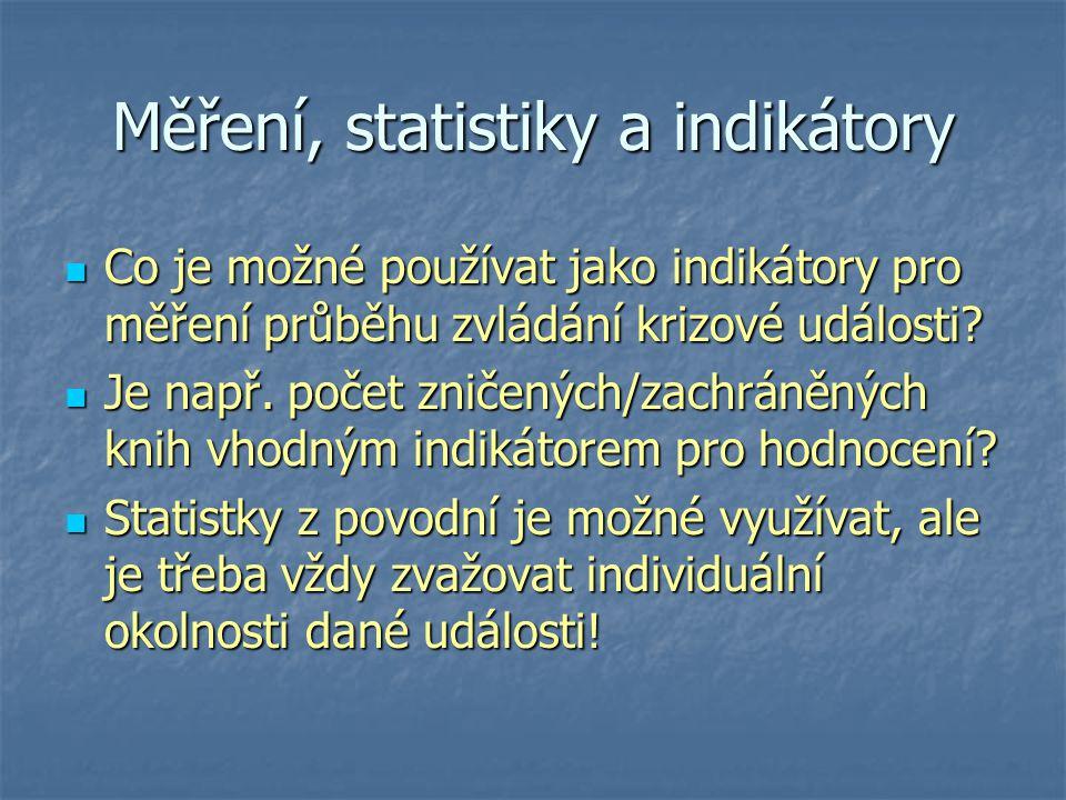 Měření, statistiky a indikátory