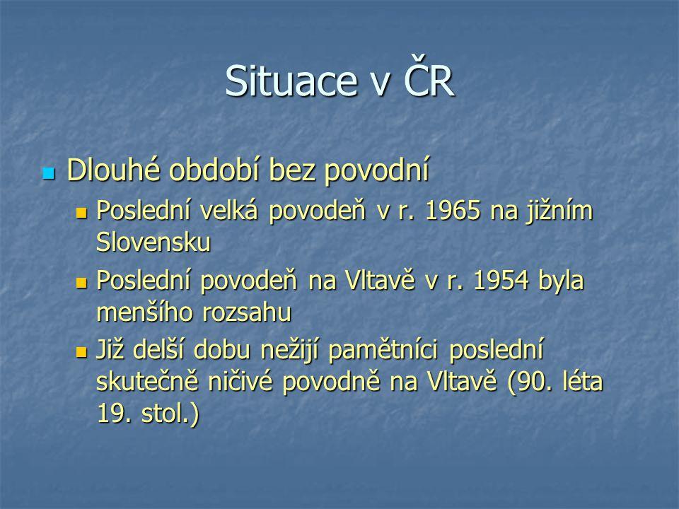 Situace v ČR Dlouhé období bez povodní