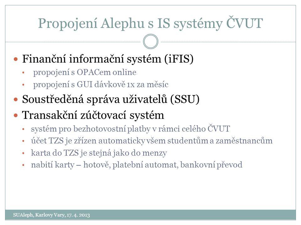 Propojení Alephu s IS systémy ČVUT