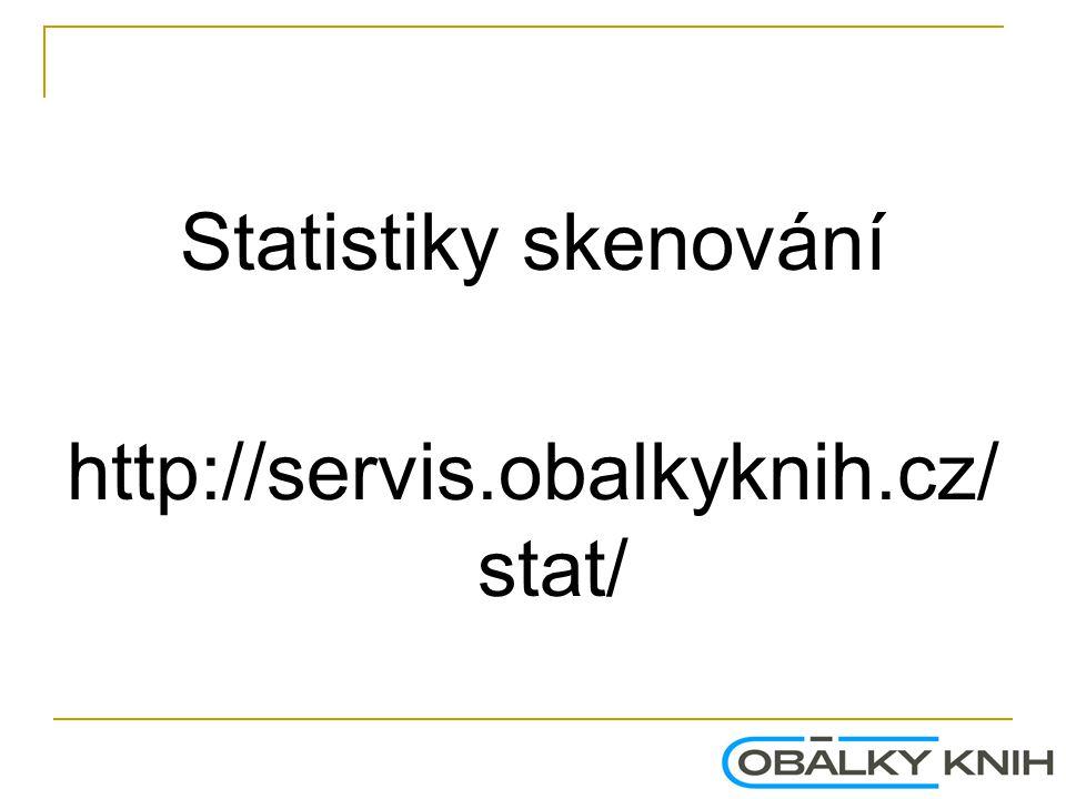 Statistiky skenování http://servis.obalkyknih.cz/stat/