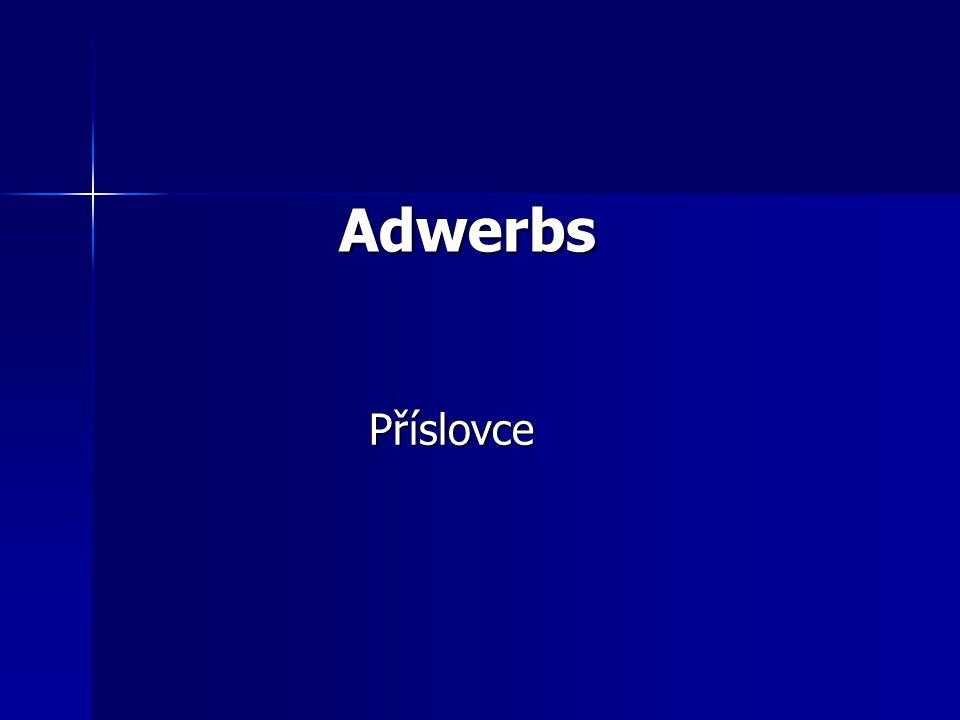Adwerbs Příslovce
