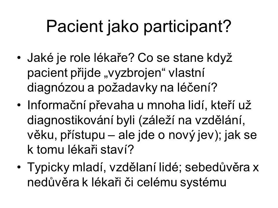 Pacient jako participant