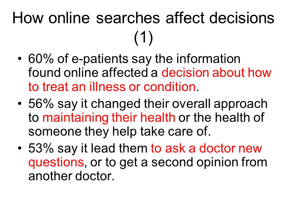 How online searches affect decisions (1)