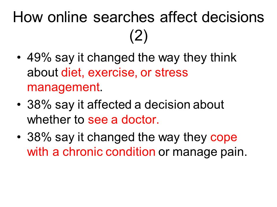 How online searches affect decisions (2)