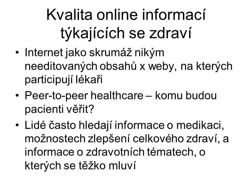 Kvalita online informací týkajících se zdraví