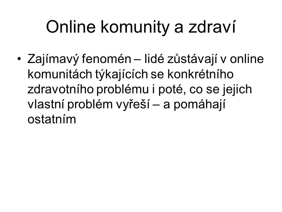 Online komunity a zdraví