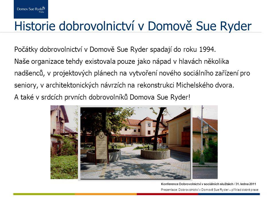 Historie dobrovolnictví v Domově Sue Ryder