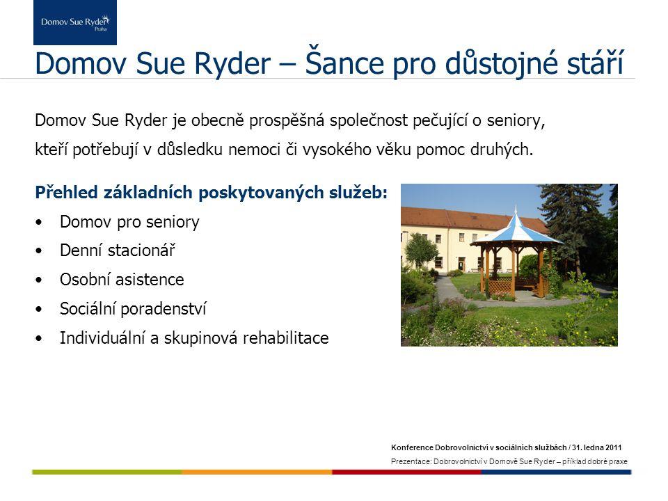 Domov Sue Ryder – Šance pro důstojné stáří