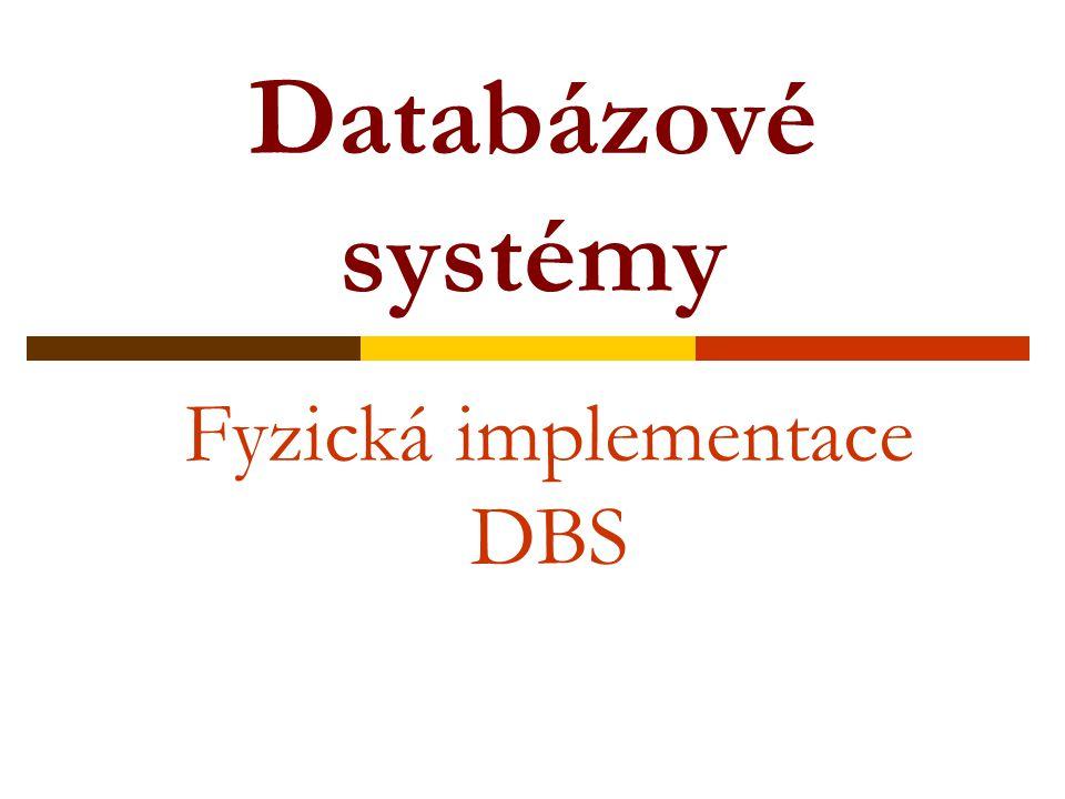 Fyzická implementace DBS