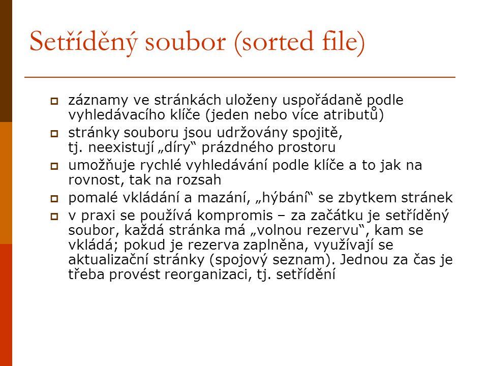 Setříděný soubor (sorted file)