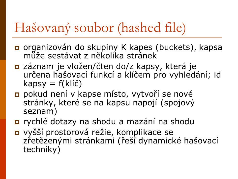 Hašovaný soubor (hashed file)