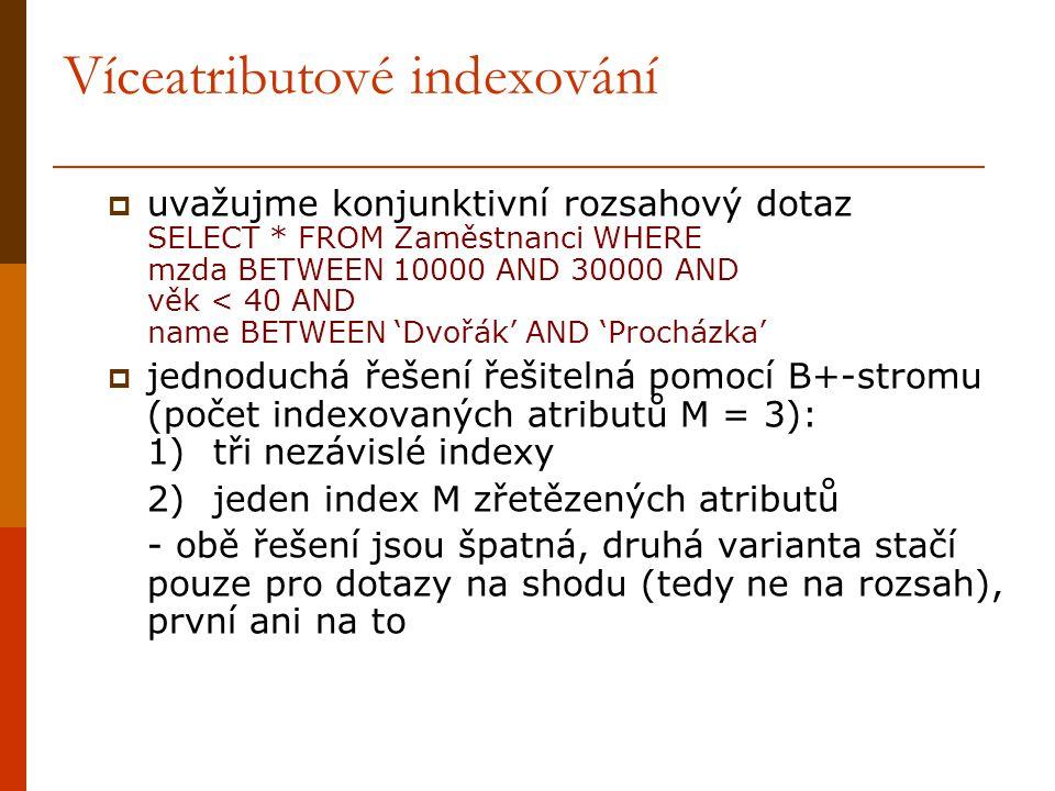 Víceatributové indexování