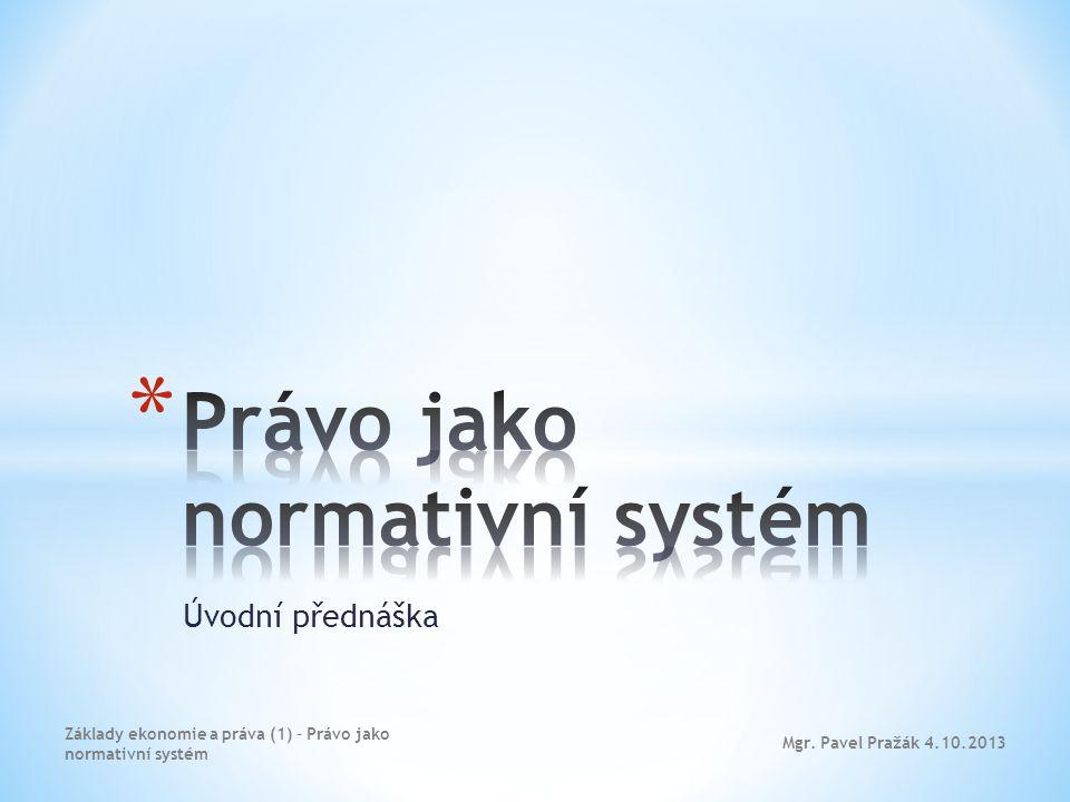 Právo jako normativní systém