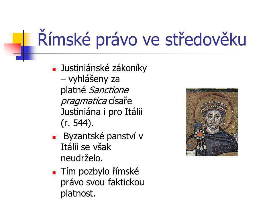 Římské právo ve středověku