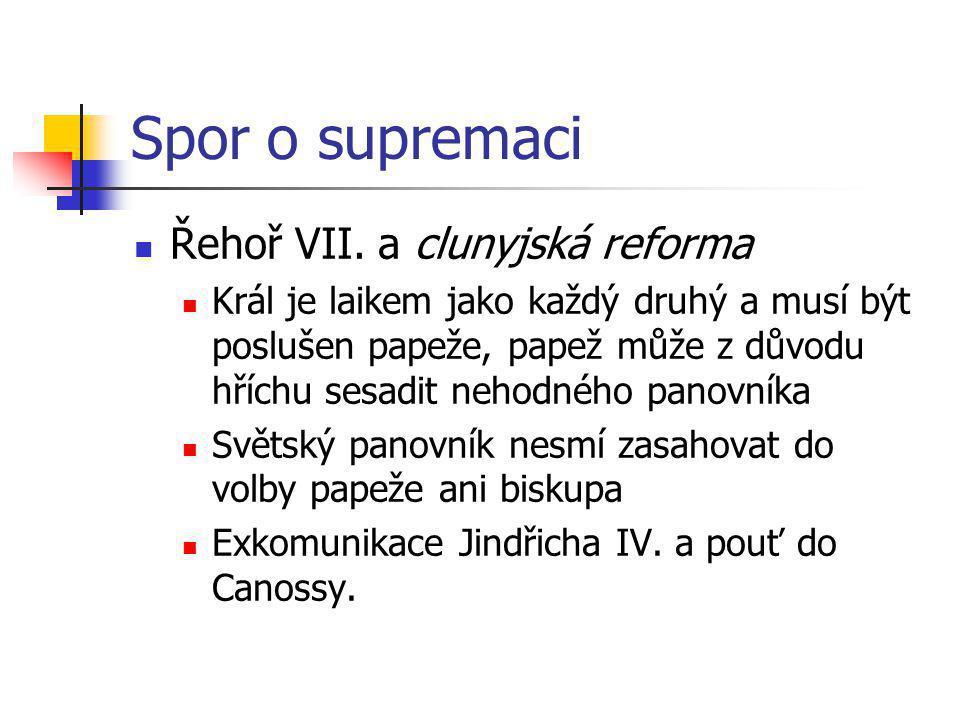 Spor o supremaci Řehoř VII. a clunyjská reforma