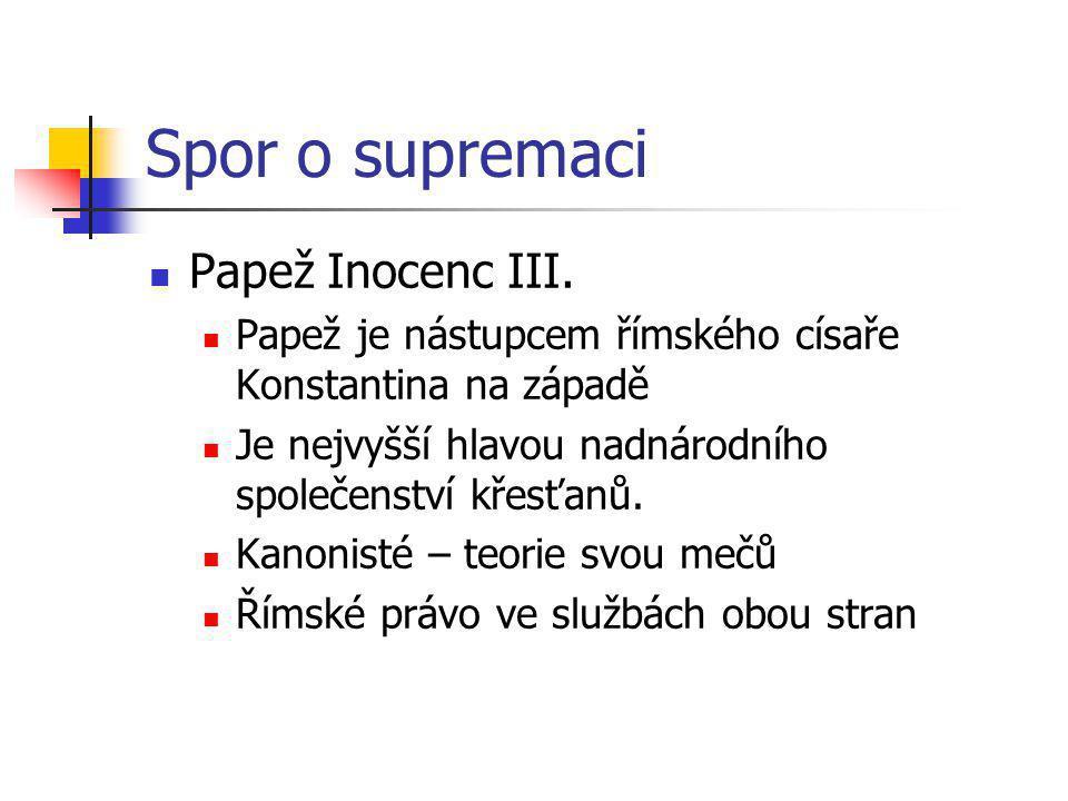 Spor o supremaci Papež Inocenc III.