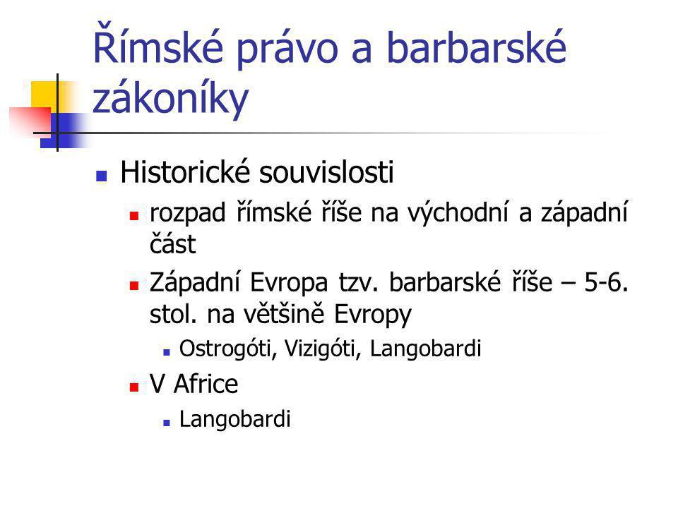 Římské právo a barbarské zákoníky