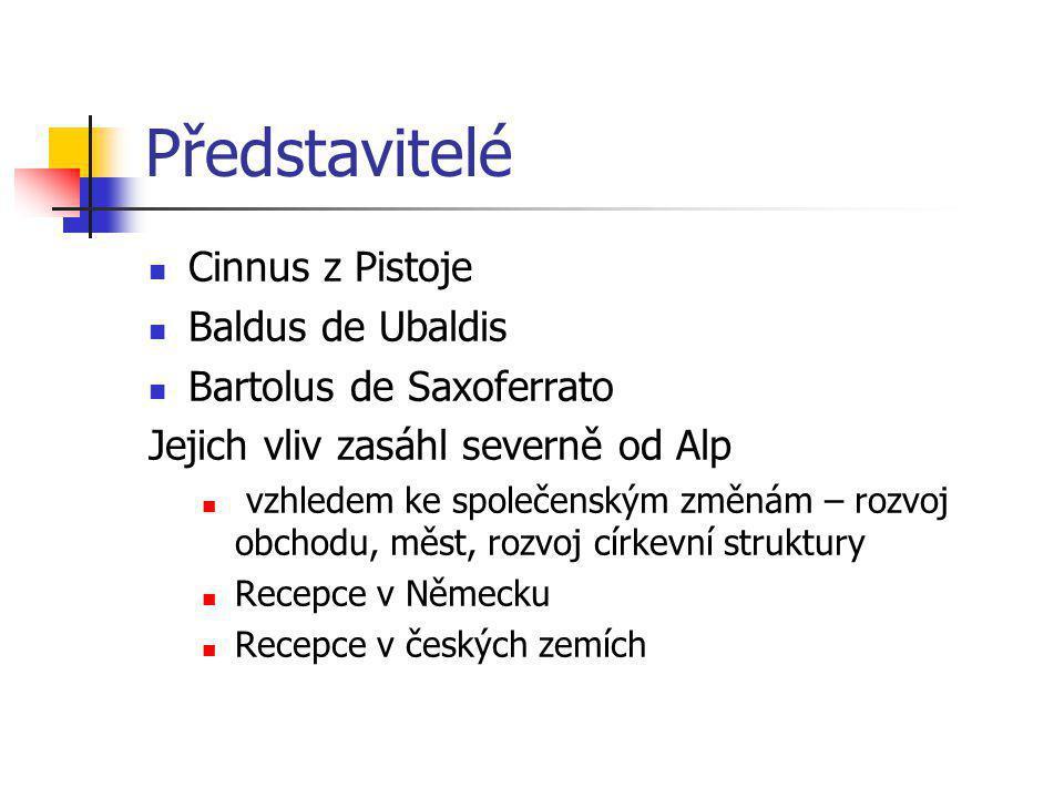 Představitelé Cinnus z Pistoje Baldus de Ubaldis