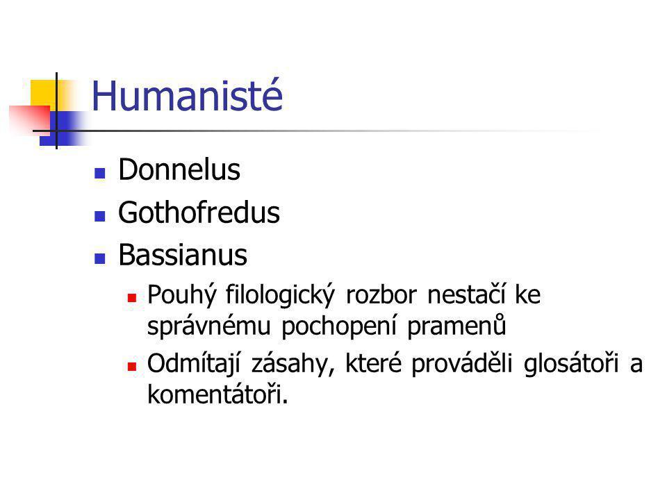 Humanisté Donnelus Gothofredus Bassianus