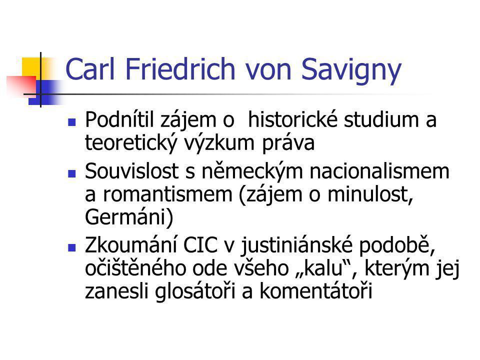 Carl Friedrich von Savigny