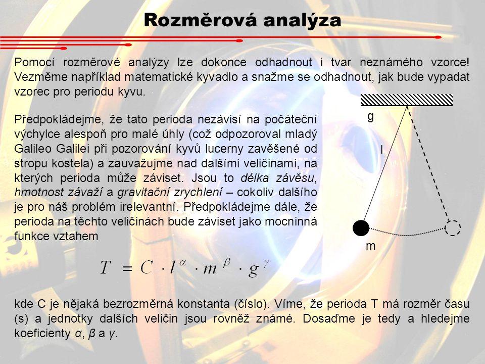 Rozměrová analýza