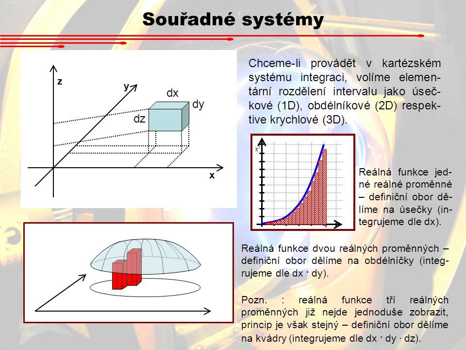 Souřadné systémy x. y. z. dx. dy. dz.