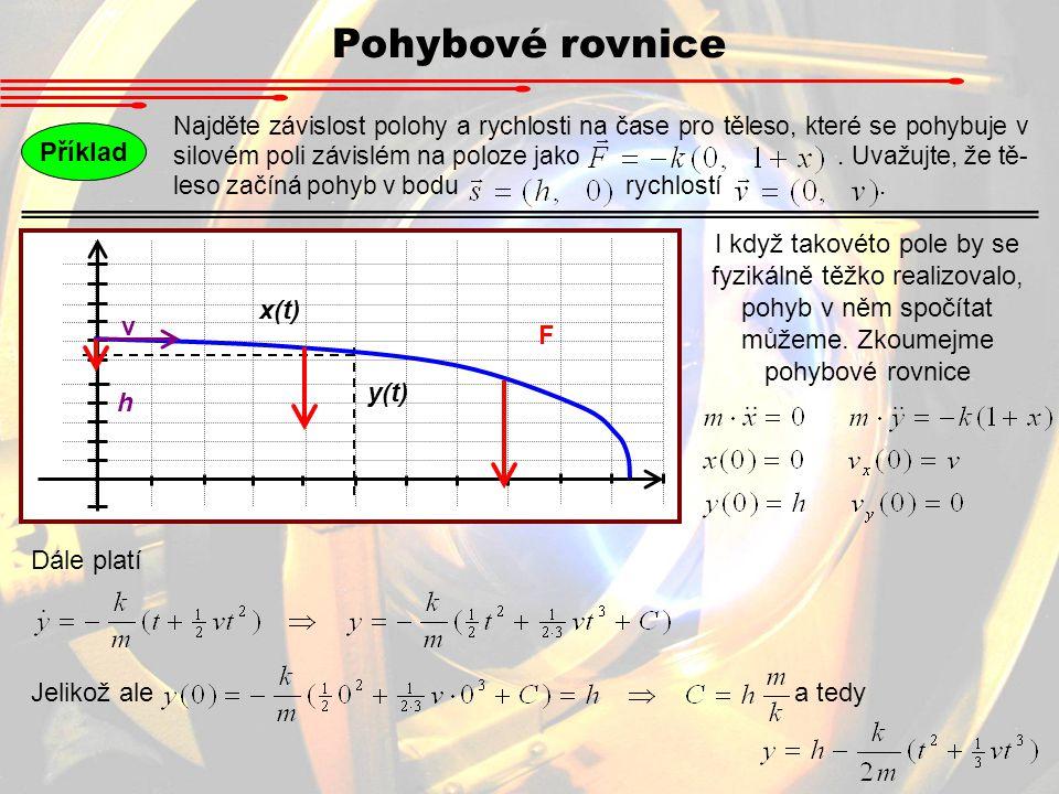 Pohybové rovnice Příklad
