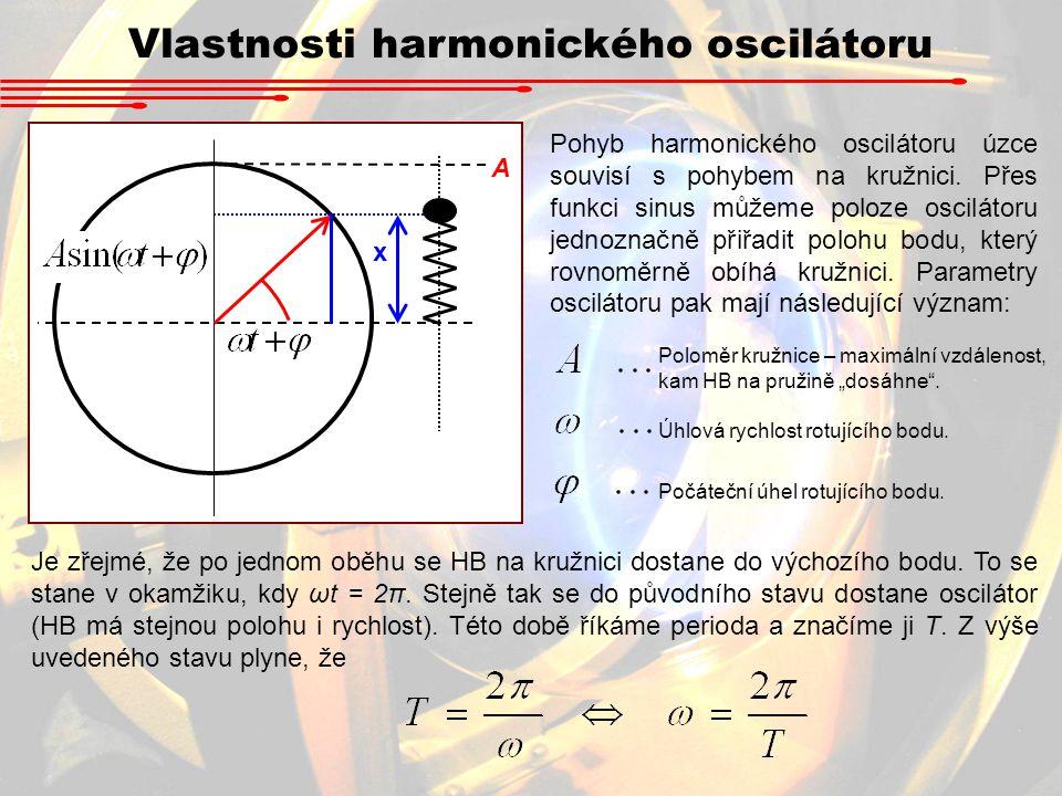 Vlastnosti harmonického oscilátoru