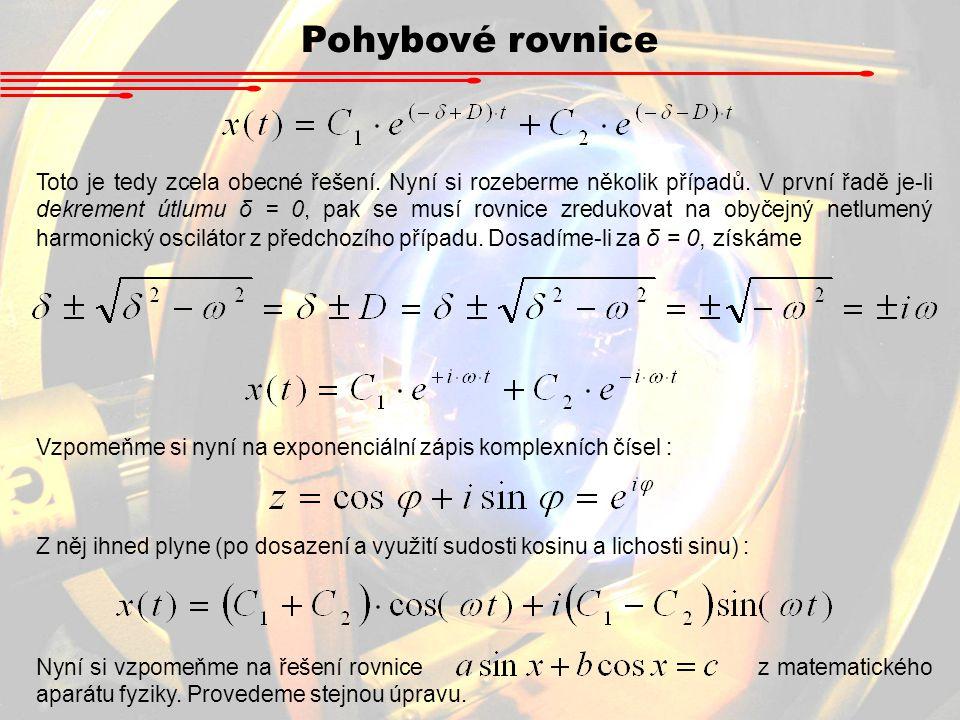 Pohybové rovnice