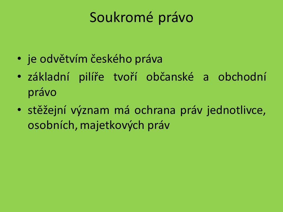 Soukromé právo je odvětvím českého práva