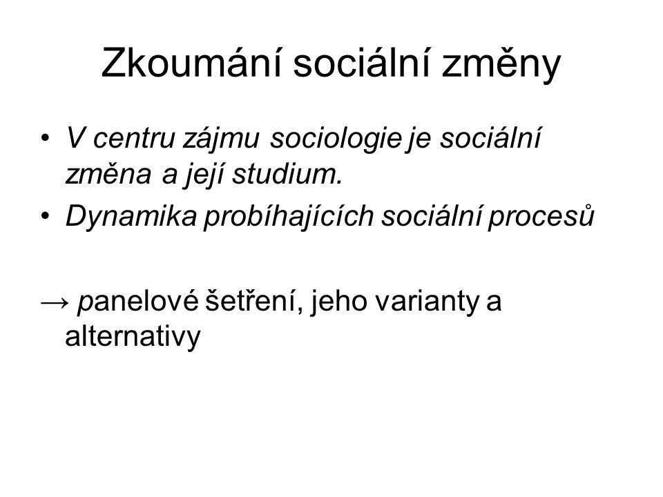 Zkoumání sociální změny