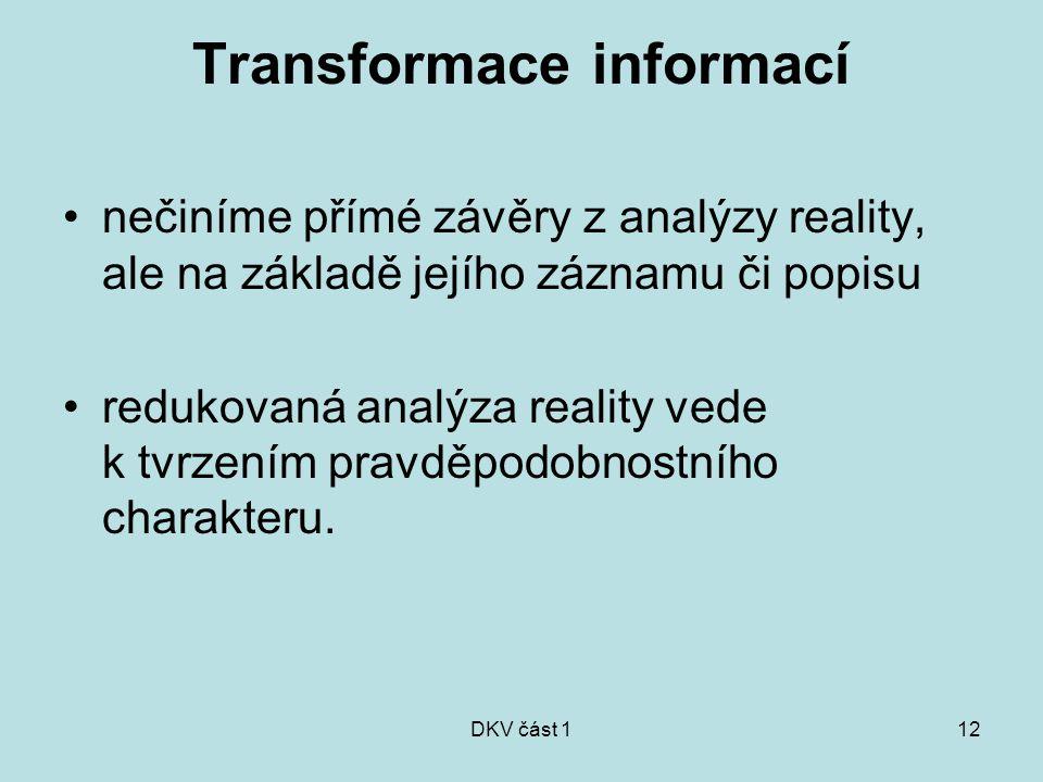 Transformace informací