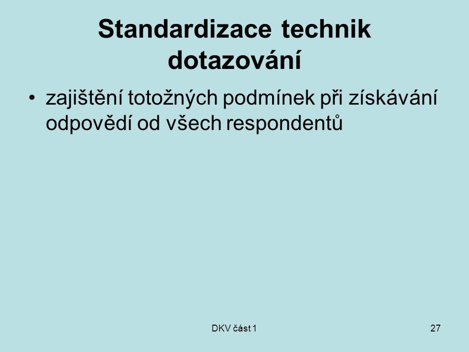 Standardizace technik dotazování