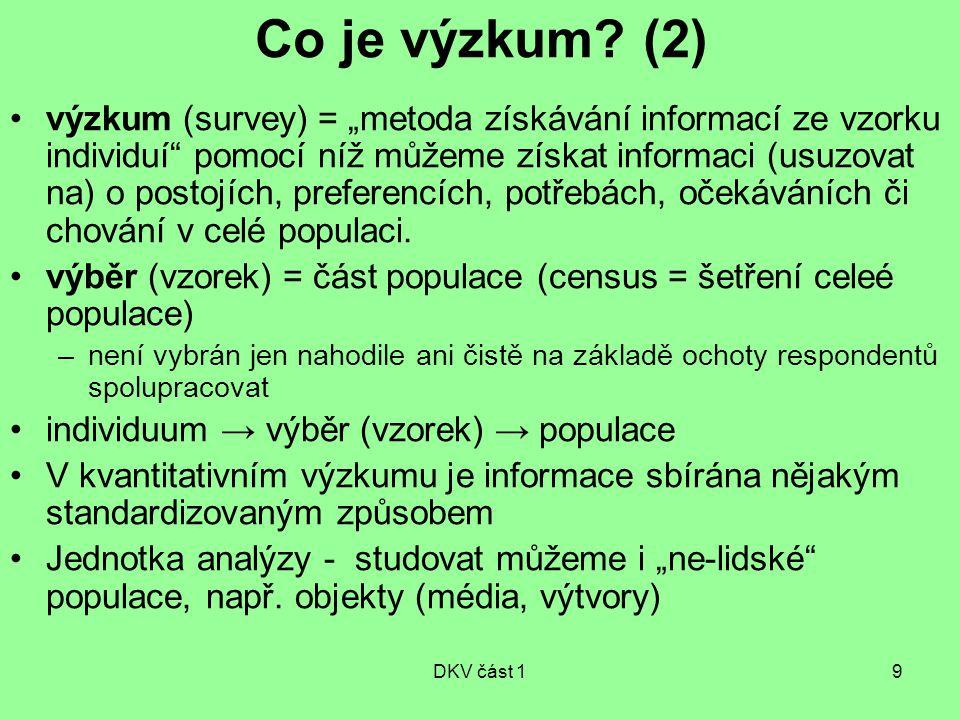Co je výzkum (2)