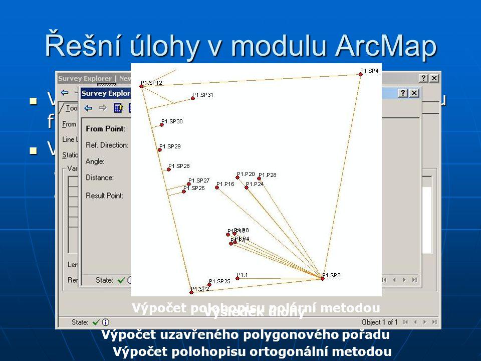 Řešní úlohy v modulu ArcMap