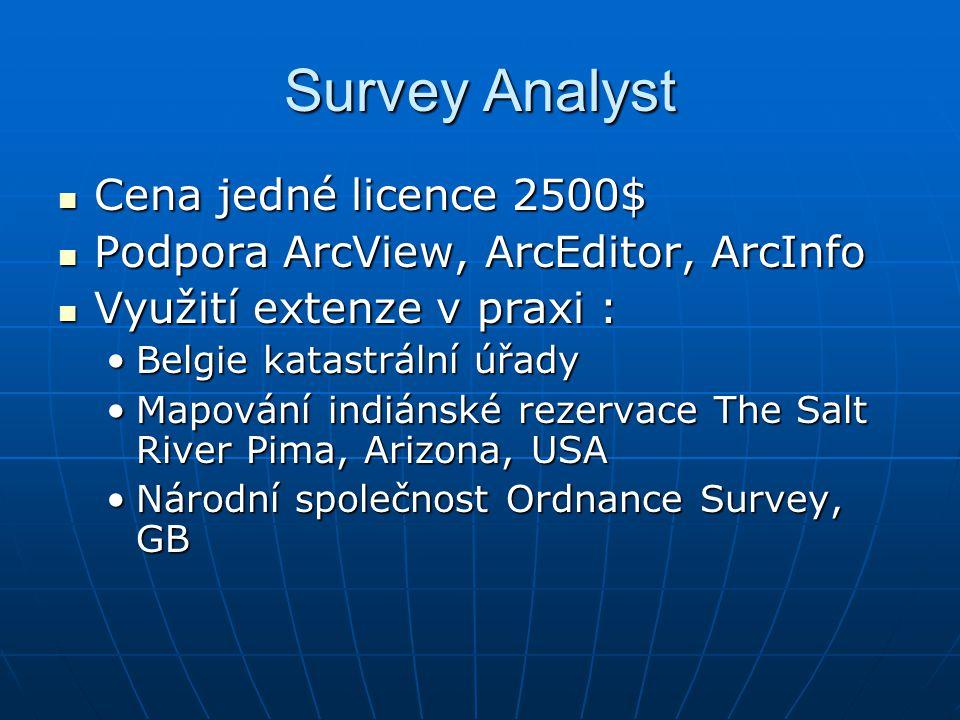 Survey Analyst Cena jedné licence 2500$