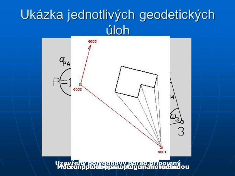 Ukázka jednotlivých geodetických úloh