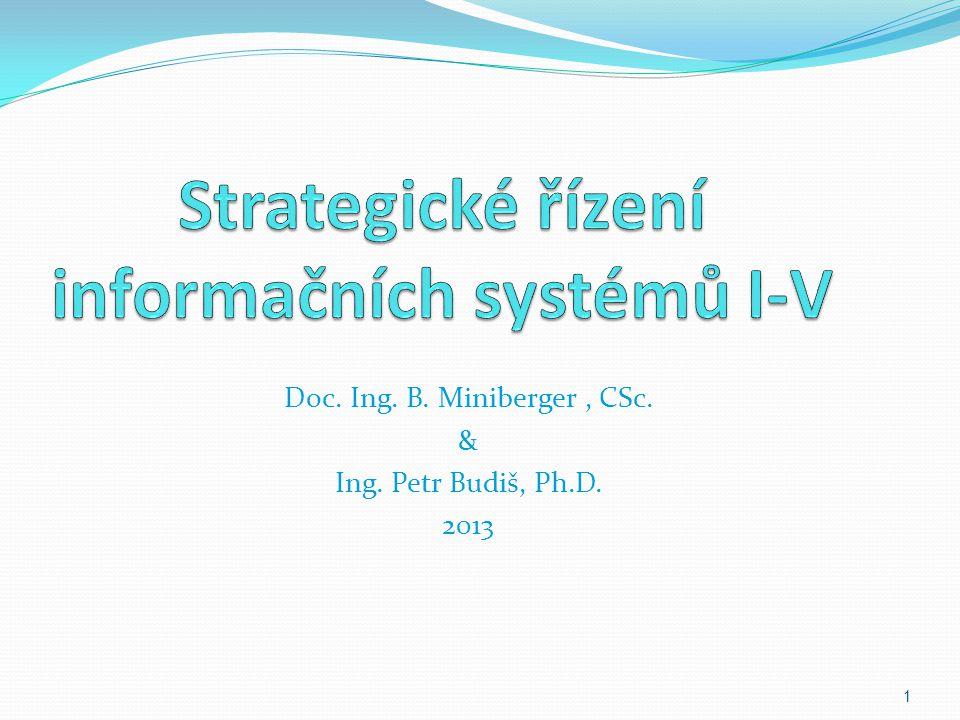 Strategické řízení informačních systémů I-V