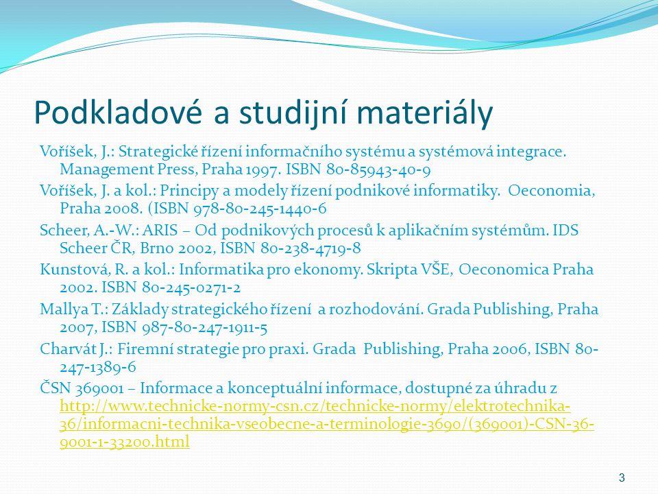 Podkladové a studijní materiály