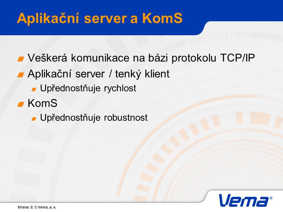 Aplikační server a KomS