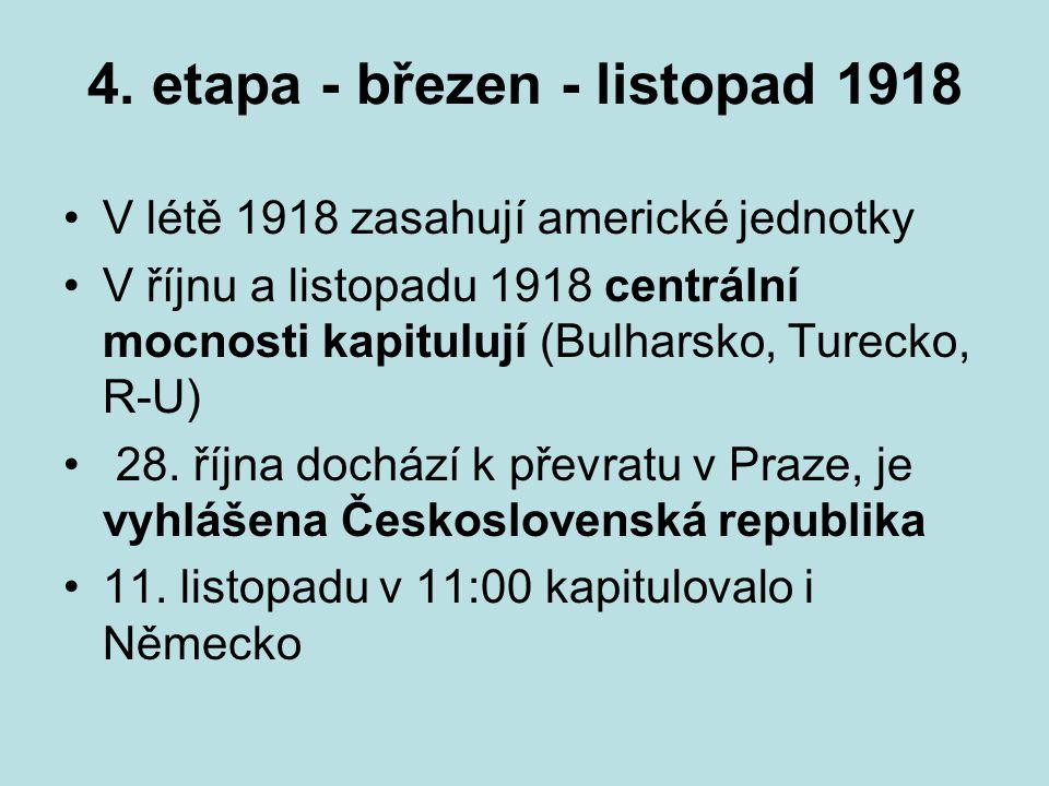4. etapa - březen - listopad 1918