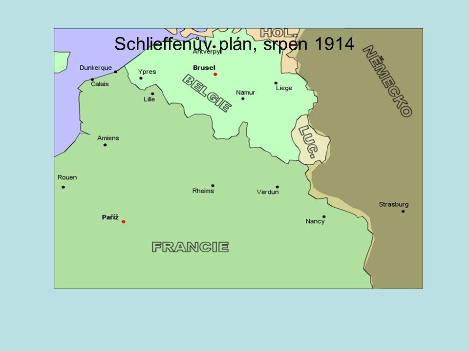 Schlieffenův plán, srpen 1914