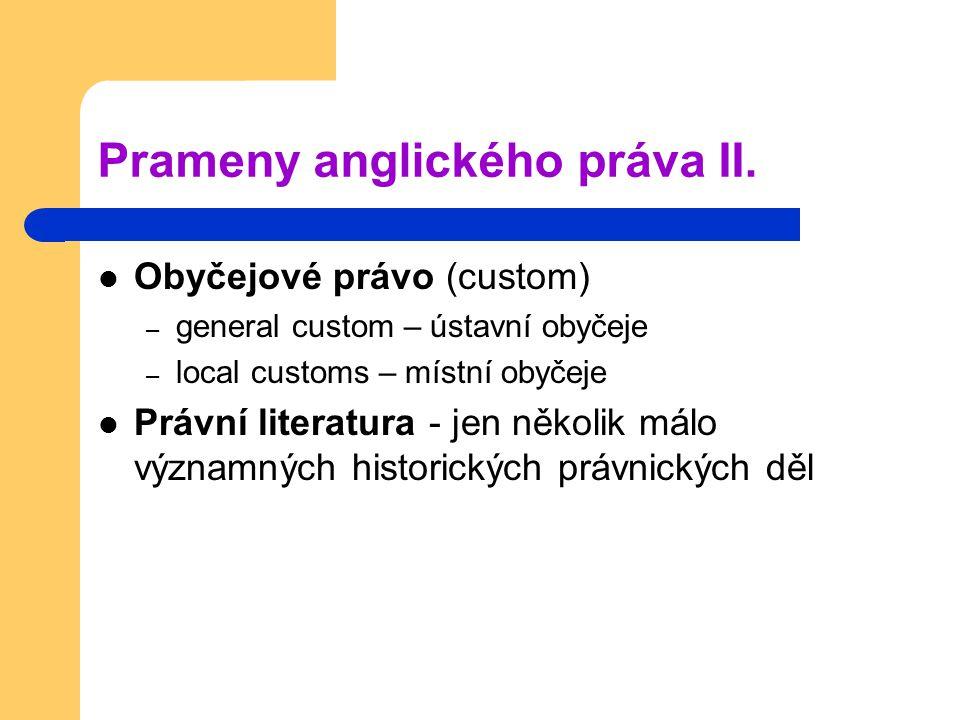 Prameny anglického práva II.
