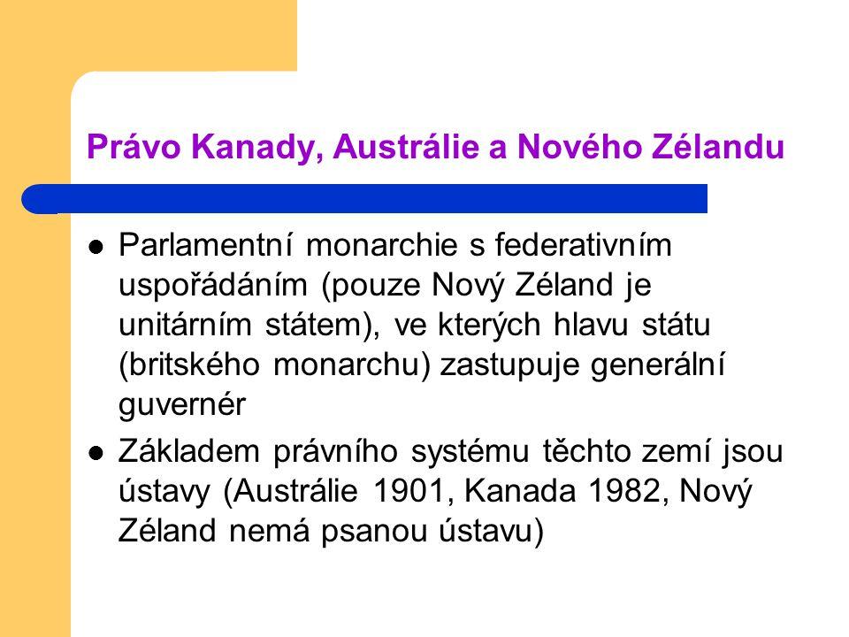 Právo Kanady, Austrálie a Nového Zélandu