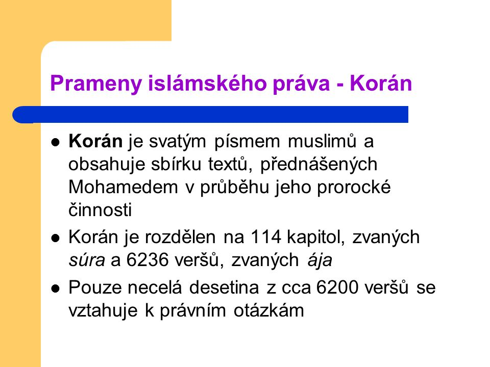 Prameny islámského práva - Korán