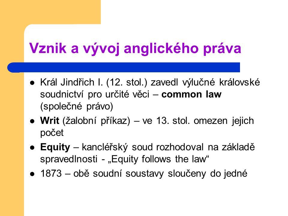 Vznik a vývoj anglického práva
